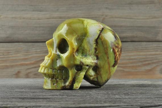 Natural Jadeite Crystal Skull