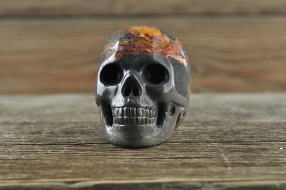 Natural Realistic Jasper Crystal Skull, Mini!