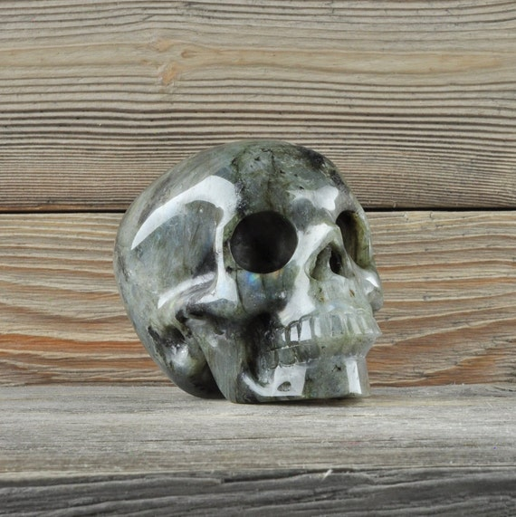 Beautiful Labradorite Crystal Skull! Medium