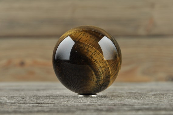 Tiger Eye and Blue Tiger Eye Sphere, 1.25 inches!