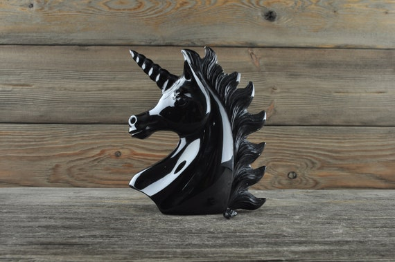 WOUNDED WARRIOR ALERT! Beautiful Hand Carved Black Obsidian Unicorn!!