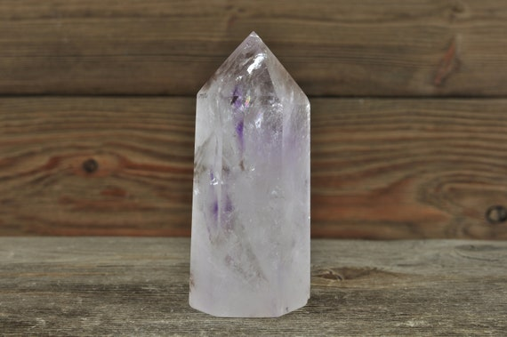 Smokey Amethyst Point, Amethyst Crystal, Amethyst Cluster, Phantom Amethyst, Crystal Decor, Home Decor