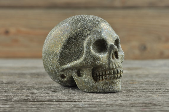 Iron Pyrite Crystal Skull, 2 inch