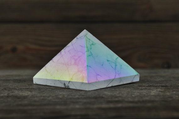 Beautiful Howlite Aura Pyramid, Medium!