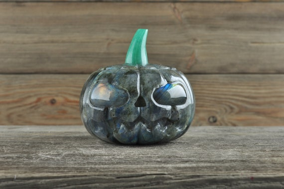 Awesome Labradorite Pumpkin with Labradorite Eyes!