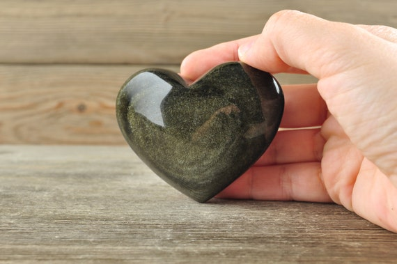 Gold Sheen Obsidian Heart!