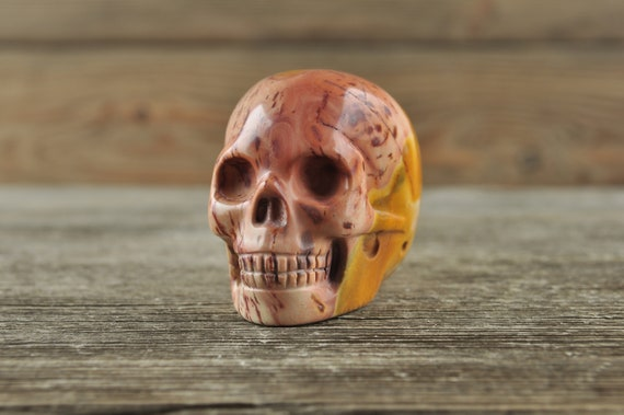 Natural Realistic Mookaite Crystal Skull, 2 inch!
