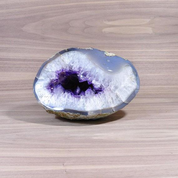 Polished Uruguayan Amethyst Geode with Agate GS3P-009