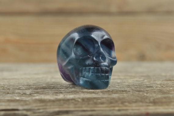 Rainbow Fluorite Crystal Skull!