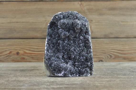 Rare, Galaxy Black Uruguayan Amethyst Cluster, 4.2 inches!