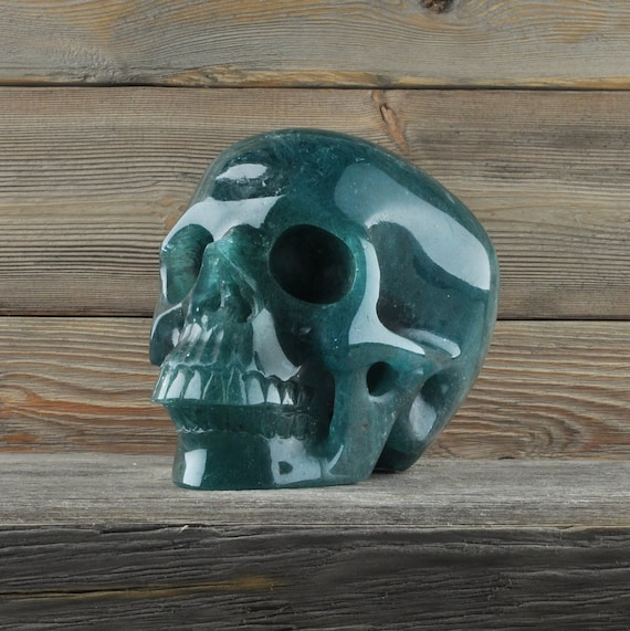 Beautiful Ice Blue Obsidian Crystal Skull!