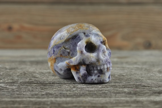 Pretty Purple Sugilite Mini Crystal Skull!