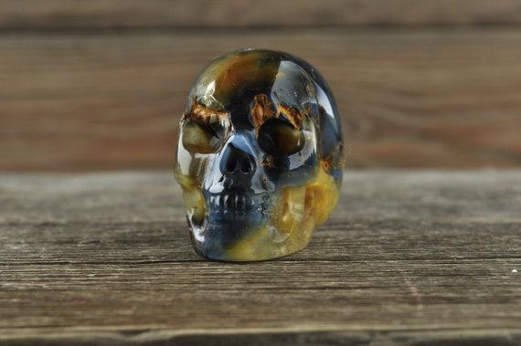 Gorgeous Pietersite Crystal Skull, Mini