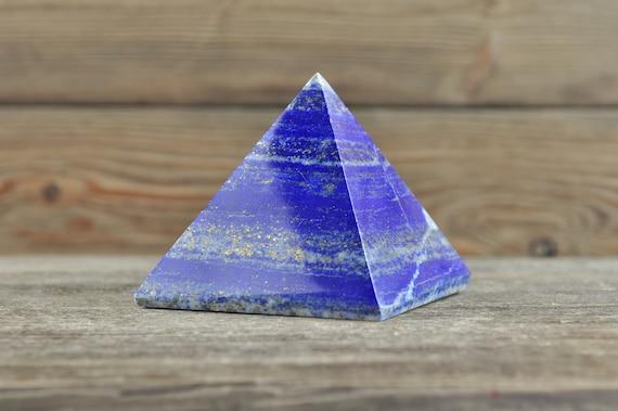 Beautiful Afganistan Lapis Lazuli Pyramid, 2.5 inches!
