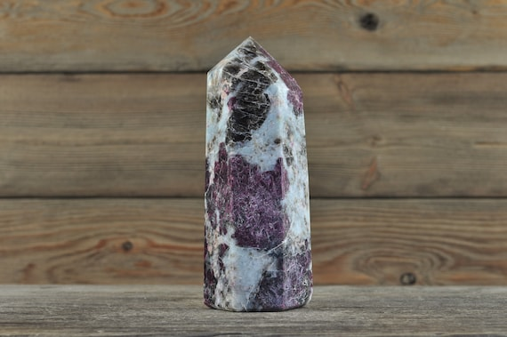 Natural Pink Tourmaline Crystal Point, Large!