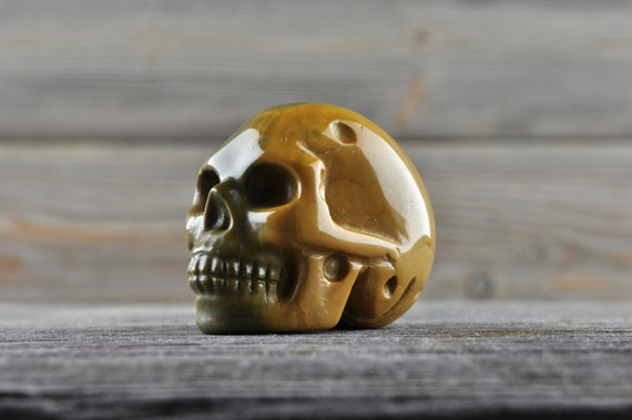 Natural Realistic Mookaite Crystal Skull, Mini!