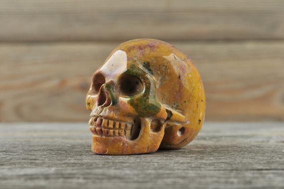 Natural Realistic Ocean Jasper Crystal Skull, Mini!