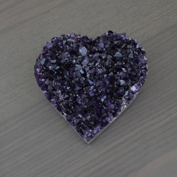 Beautiful AA Quality Semi-Polished Uruguayan Amethyst Heart HRT1-006