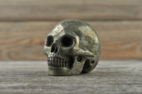 Iron Pyrite Crystal Skull, Mini