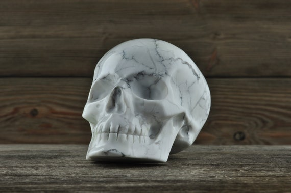 Amazing Howlite Crystal Skull, 3.5 inches!