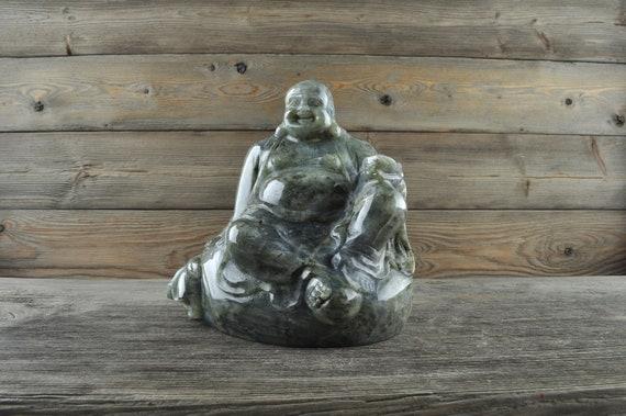Natural Labradorite Crystal Buddha, Large