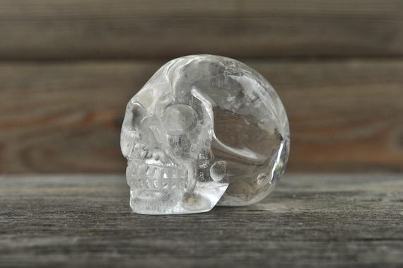 Natural Clear Quartz Crystal Skull, Mini