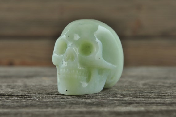 Natural Amazonite Crystal Skull, Mini