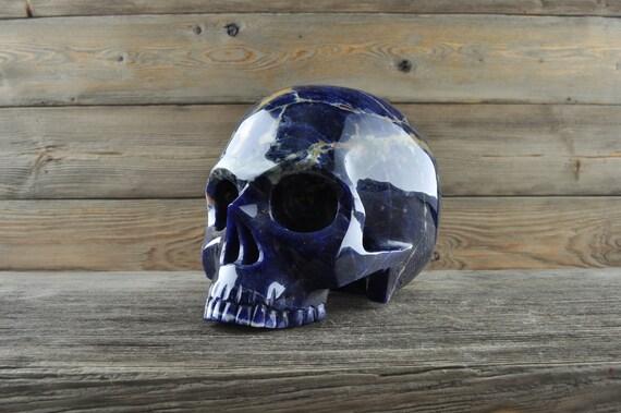 Natural Sodalite Crystal Skull, Large