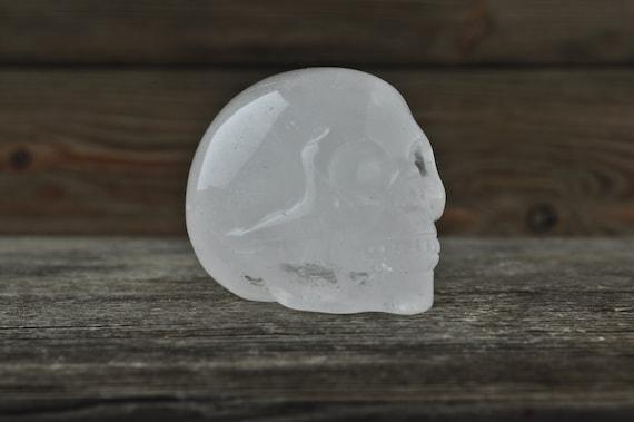 Natural Quartz Crystal Skull, 2 inch!