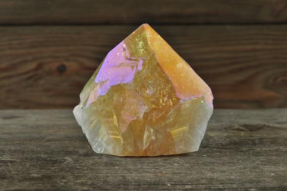 Citrine Aura Top Point! Citrine, Citrine Crystal, Aura Quartz, Aura Crystal, Crystal Point, Crystal Decor, Manifestation Crystals