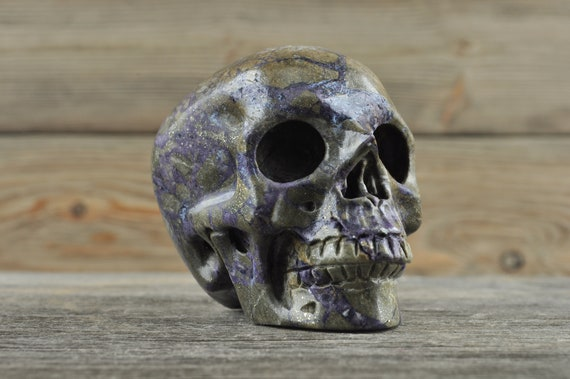 Beautiful Purple Fluorite Crystal Skull! Medium