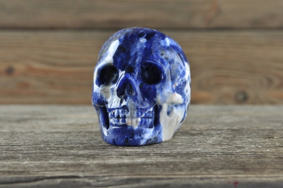Natural Sodalite Crystal Skull, 2 inch