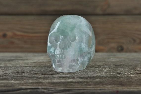 Vibrant Green Fluorite Crystal Skull! 2 Inch