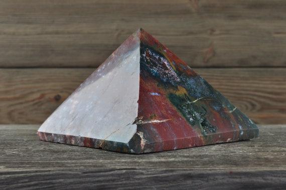 Beautiful Ocean Jasper Pyramid, Large!