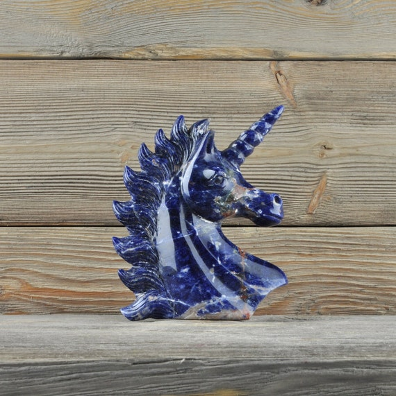 Beautiful Hand Carved Sodalite Unicorn!!