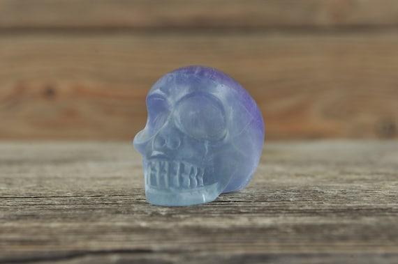 Rainbow Fluorite Crystal Skull! Halloween Decor, Skull Decor, Gothic Home Decor, Memento Mori, Goth Decor, Crystal Decor