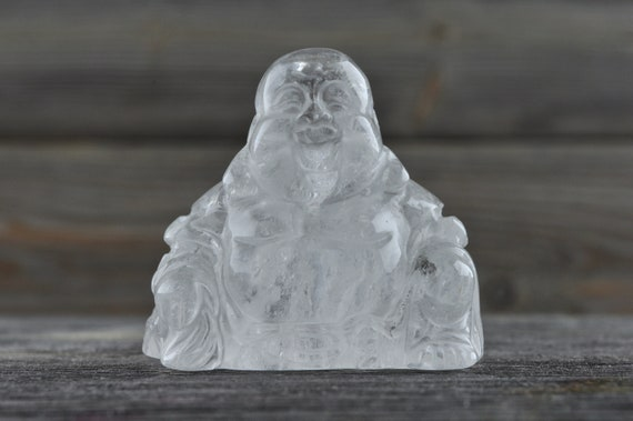 Beautiful Clear Quartz Buddha Carving