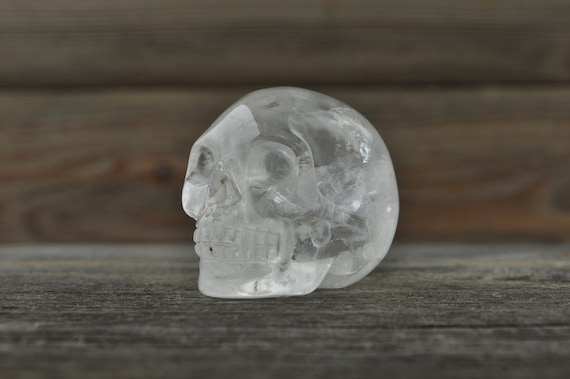 Natural Clear Quartz Crystal Skull, Mini