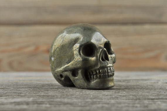 Iron Pyrite Crystal Skull, Mini
