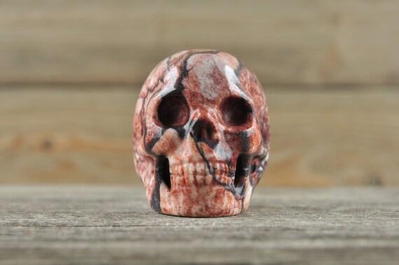 Natural Realistic Jasper Crystal Skull, 2 inch!