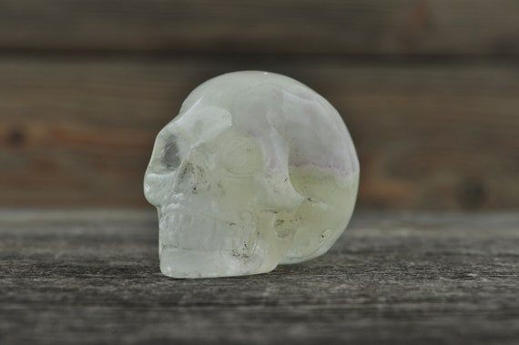 Green Fluorite Crystal Skull! WOUNDED WARRIOR
