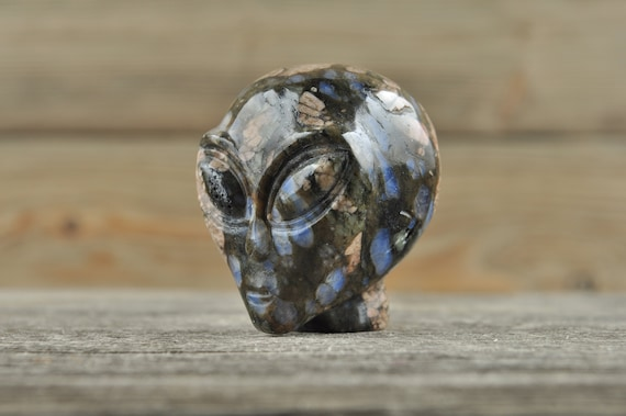 Natural Realistic Llanite Alien Starbeing Crystal Skull, Mini!