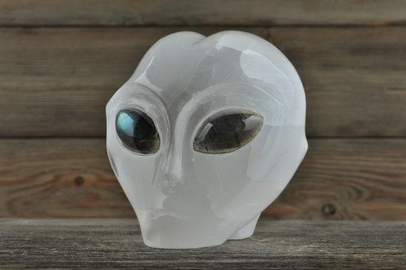 Selenite w Labradorite Eyes Crystal Alien Starbeing!