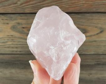 Semi-Polished Rose Quartz Crystals