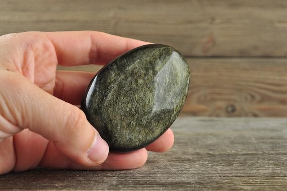 Gold Sheen Obsidian Palmstone!