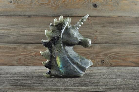 Beautiful Hand Carved Labradorite Unicorn!!