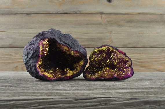 Pink and Gold Moroccan Druzy Geodes