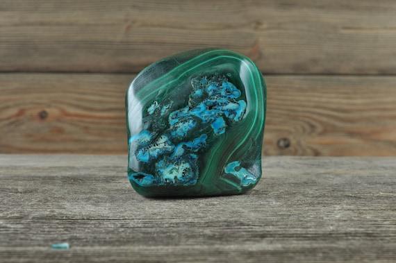 Rare Natural Malachite with Chrysocolla