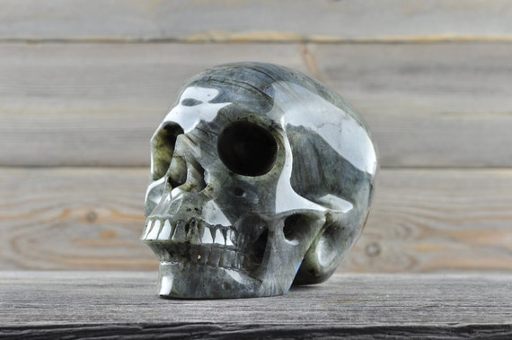 Beautiful Flashy Labradorite Crystal Skull! Large