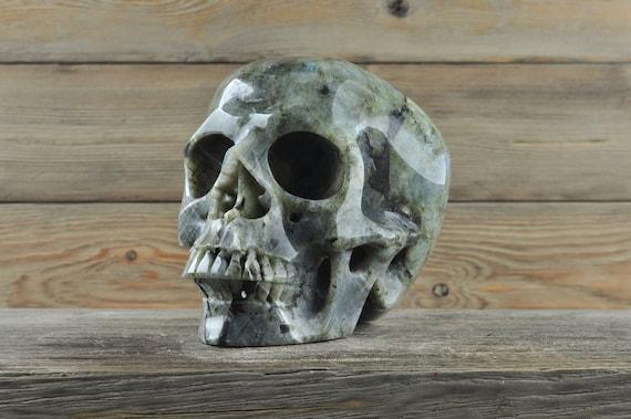 Super Labradorite and Realistic, Crystal Skull!